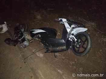 Motorista de caminhão foge após acidente com motociclista em Serra Alta - ND Mais