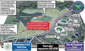 You cannot be serious! Fury at Wimbledon bosses' bid to shut local road