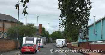 Concern as travellers pitch up on Derby road - Derbyshire Live