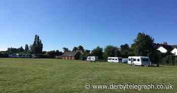 Travellers set up illegal camp on Derby park by school - Derbyshire Live