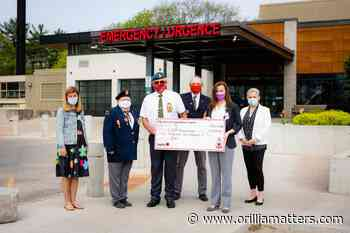 Midland Legion supports GBGH ICU with $5,200 donation - OrilliaMatters
