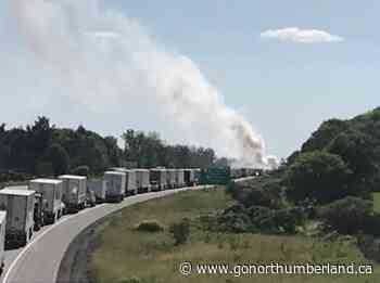 Traffic Stopped after Tractor Trailer Fire on Westbound 401 Near Colborne - 93.3 myFM