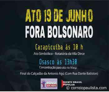 Osasco e Carapicuíba terão eventos contra Jair Bolsonaro no dia 19 - Correio Paulista