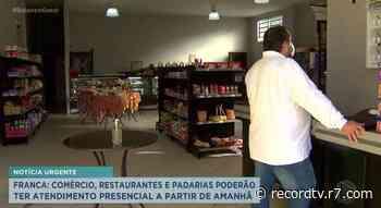 Comércio poderá ter atendimento presencial em Franca - Record TV