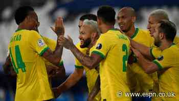Neymar strikes as Brazil thrash Peru at Copa