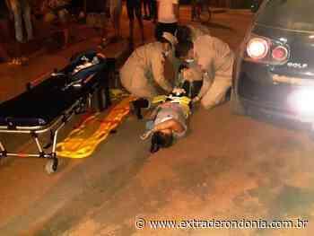 Motociclista é levada ao hospital após colidir com carro em Vilhena – Extraderondonia.com.br - Extra de Rondônia