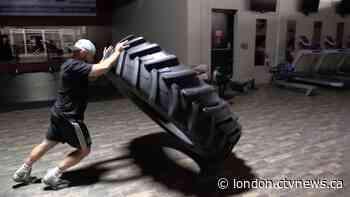 Listowel, Ont. strongman tops fundraising goal in tire flip event - CTV News London