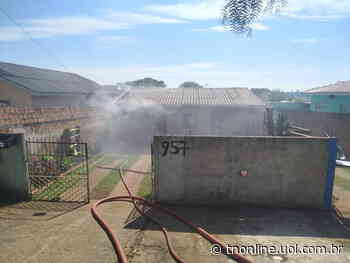 Incêndio é registrado em residência no Jardim Ponta Grossa - TNOnline - TNOnline