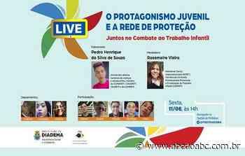 Prefeitura de Diadema faz live sobre protagonismo juvenil nesta sexta - 10/6 - ABCdoABC