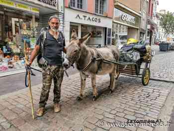 Le Puy-en-Velay : un âne dans la ville - La Commère 43