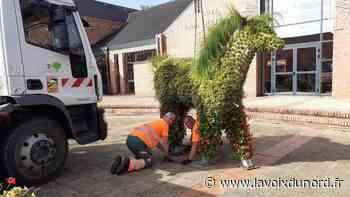 Libercourt: les neuf structures fleuries ont été réinstallées dans les quartiers - La Voix du Nord