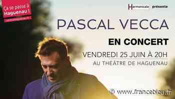 Pascal Vecca en concert au Théâtre Municipal de Haguenau Vendredi 25 Juin ! - France Bleu