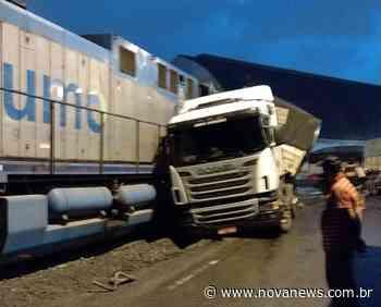 Motorista de carreta com placas de Ivinhema sai ileso de colisão com - Nova News
