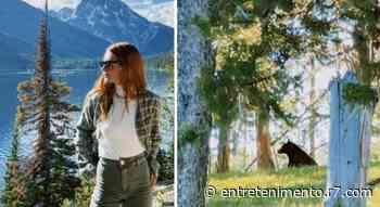 Marina Ruy Barbosa encontra urso em passeio pela montanha - R7