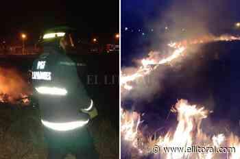Incendio de pastizales en Santa Fe; Santo Tomé, Rafaela y Rosario - El Litoral