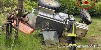 Breganze: trattore si rovescia, ferito un agricoltore - Vicenzareport