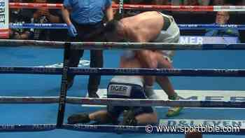 Paul Gallen Goes Rugby League Mode And Tackles Justis Huni Mid-Fight - SPORTbible