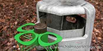 Holzwickede setzt weiter auf Pfandringe an Mülleimern im Ort - Hellweger Anzeiger