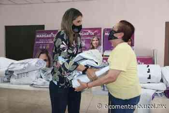 Entrega Margarita Moreno lonas de difusión electoral a asociaciones y familias que lo requirieron - El Comentario