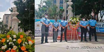 Policía Nacional rinde tributo a José Trinidad Cabañas en Bicentenario de Independencia Patria - La Tribuna.hn