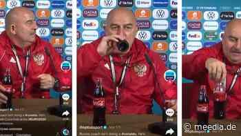 Witzige Antwort auf Ronaldo – Russischer Nationaltrainer greift zur Cola