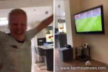 WATCH: Hilarious moment football fan pranked into thinking Scotland had scored - Barrhead News
