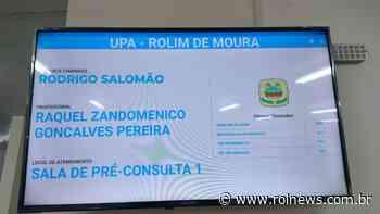 UPA de Rolim de Moura conta com painel eletrônico para chamar paciente para consulta - ROLNEWS