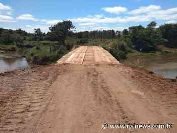 Rolim de Moura: Recuperada ponte da linha 176 lado norte - ROLNEWS
