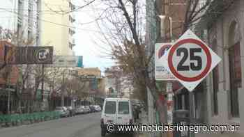 En el centro de Cipolletti la velocidad máxima es ahora de 25 kph - Noticias Río Negro