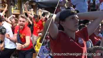 """""""Werden die EM gewinnen"""": Belgien-Fans feiern Achtelfinaleinzug"""