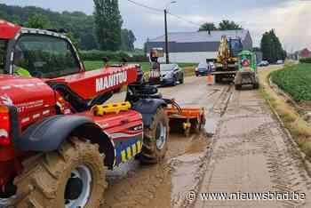 Onweer zorgt voor veel modder op de wegen
