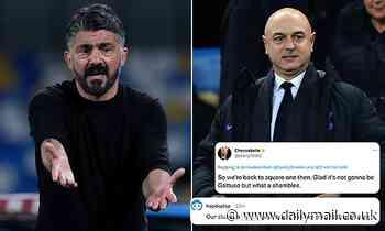 Tottenham fans fume at Daniel Levy after pursuit of Gennaro Gattuso BREAKS DOWN