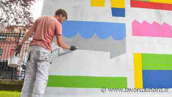 Tourcoing : une nouvelle fresque voit le jour au square Leman - La Voix du Nord