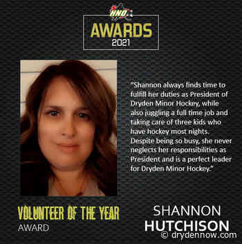 Hutchison named HNO's volunteer of the year - DrydenNow.com