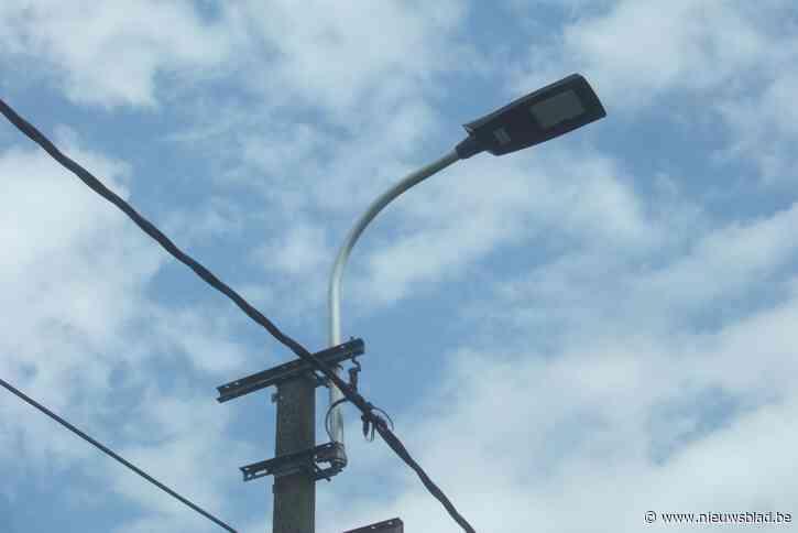 Straatverlichting wordt vernieuwd