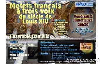 Motets français à trois voix du siècle de Louis XIV Pau vendredi 2 juillet 2021 - Unidivers