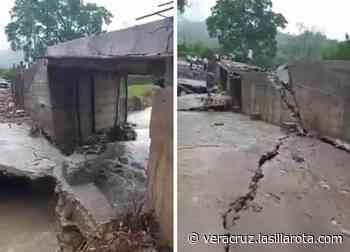 Incomunicadas 600 familias en Misantla, por derrumbe de puente - La Silla Rota