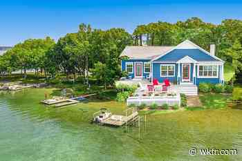 There are a Few Homes On this Private Island in Gull Lake - This One's For Sale - wkfr.com