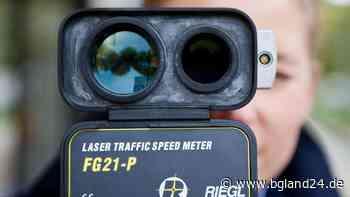 Tittmoning: Polizei kontrolliert die Geschwindigkeit auf der B20 in Tittmoning - bgland24.de