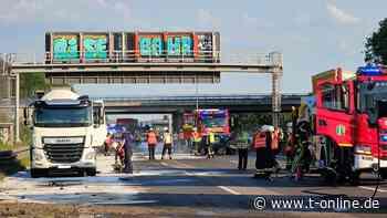 Köln/Erftstadt: Schwerer Unfall auf A1 Richtung Köln – Autobahn gesperrt - t-online - Köln
