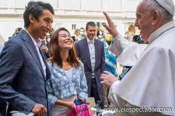 """""""Sentir su presencia fue increíble"""", dice Egan Bernal tras visitar al Papa - El Espectador"""