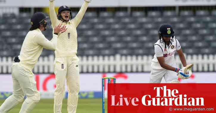 England v India women's Test match: rain stops play on day three – live!