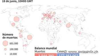 Balance mundial de la pandemia de coronavirus el 18 de junio a las 10H00 GMT - swissinfo.ch