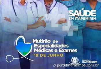 Itapemirim/ES – Mutirão de especialidades médicas vai realizar 750 atendimentos neste sábado (19) - Portal Maratimba