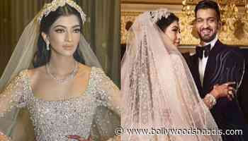 India's First Bride, Who Donned World's Famous Designer, Elie Saab's 30 Kgs Gown For Her Reception - BollywoodShaadis.com