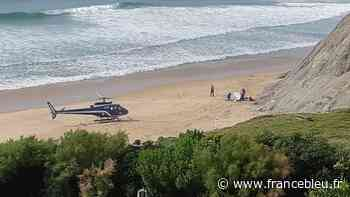 Un surfeur évacué par hélicoptère depuis la plage du centre à Bidart - France Bleu