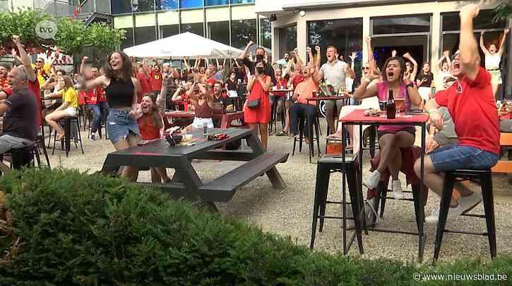 """De Casino in Sint-Niklaas: """"240 supporters zuchten en vloeken, maar feesten uiteindelijk ook na zege van Duivels tegen Denenmarken"""""""
