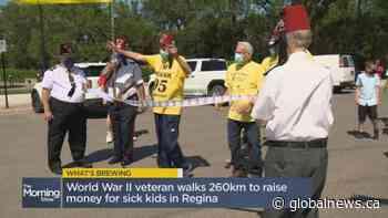What's Brewing? Saskatchewan senior walks 260km to raise funds for sick kids in Regina