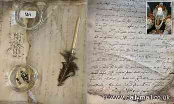 National Archives conservators find QUILL inside  document dating from reign of Queen Elizabeth I