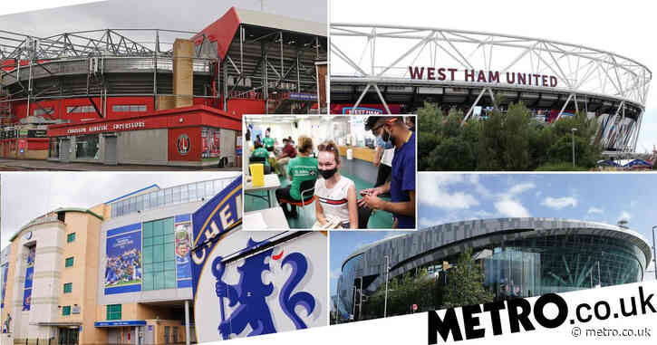 All the the Covid vaccination events at football stadiums this weekend